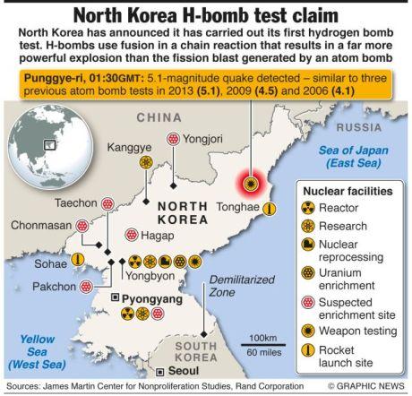 North Korea Bomb Test