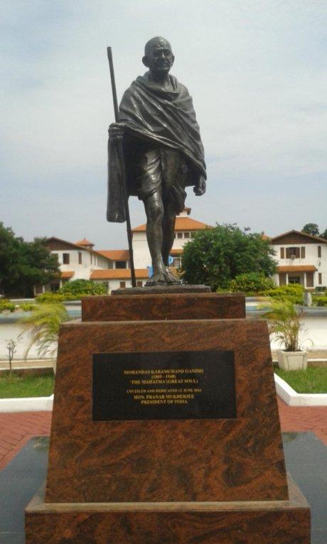 Gandhi statue at University of Ghana at Accra