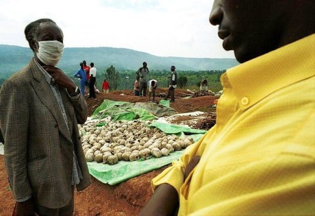 Mass grave in Rwanda