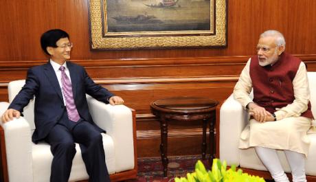 Narendra Modi & Meng Jianzhu