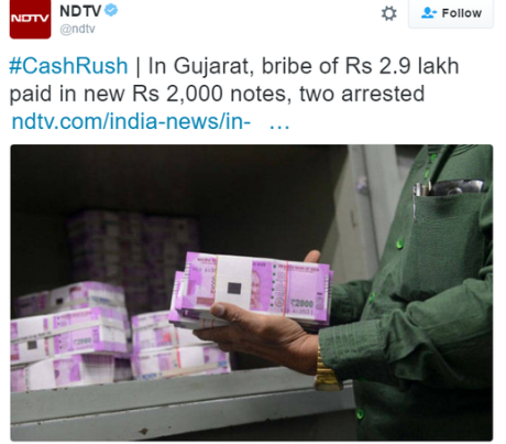 New 2000-rupee notes