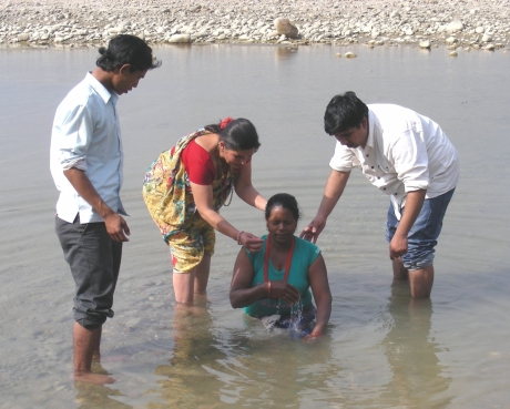 Christian baptism in Nepal