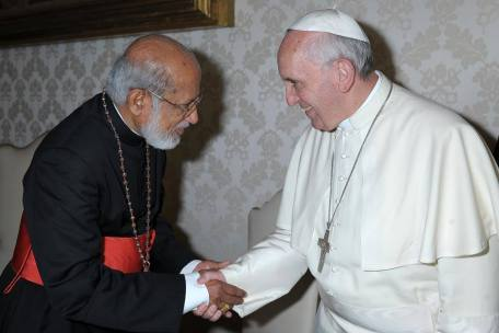 Cardinal George Alenchery and Pope Francis
