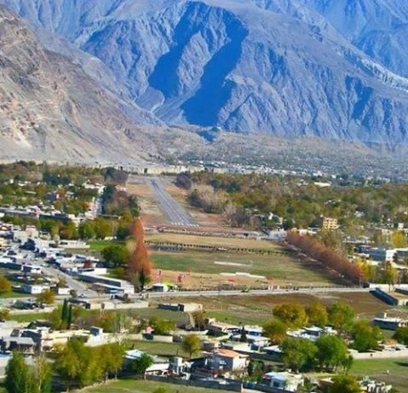 Gilgit city with air strip is the capital of Gilgit-Baltistan, a Pakistan-occupied territory of India.