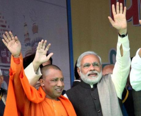 Narendra Modi and Yogi Adityanath