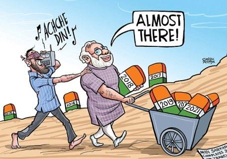 Satish Acharya on Narendra Modi