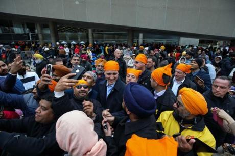 Justin Trudeau joins the Khalistanis (2017)
