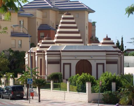 Hindu temple in Benalmádena, Malaga, Spain