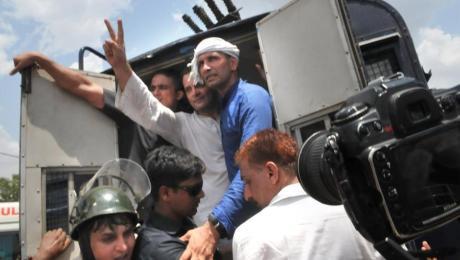 Rahul Gandhi arrested in Mandsaur