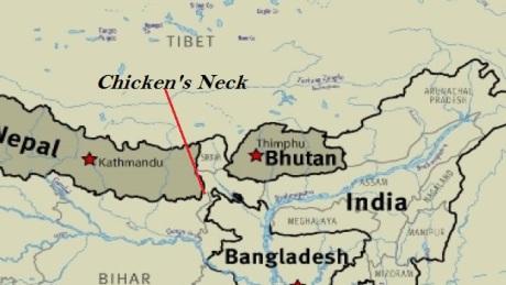 India-Bhutan map