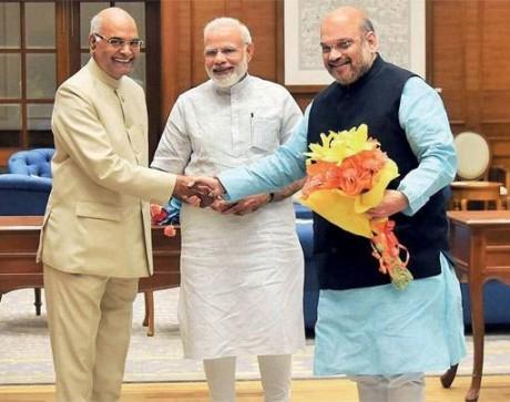 Ram Nath Kovind, Narendra Modi, Amit Shah