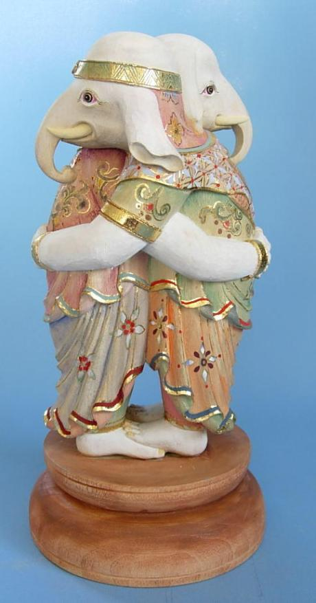 Ganesha with his wife Buddhi in Japan