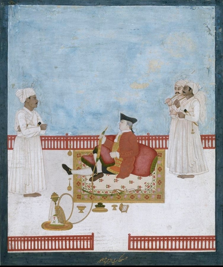 East India Company official with his dubashi