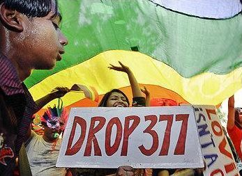 Indians protest against Section 377