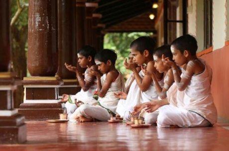 Brahmin boys in a Vedic school