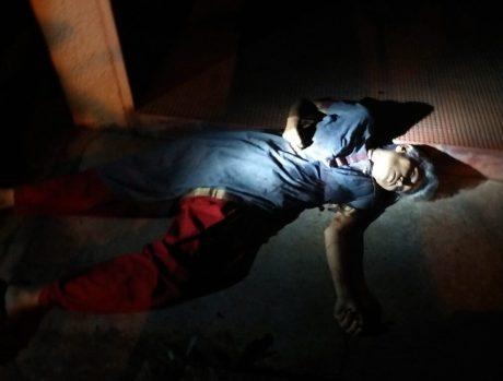 The body of senior journalist Gauri Lankesh, who was shot dead by unidentified men at her residence, Rajarajeshwari Nagar in Bengaluru on Sept 5, 2017. (Photo: IANS)