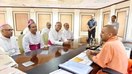 Catholic priests meet Yogi