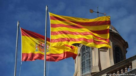 Catalan and Spanish Flags
