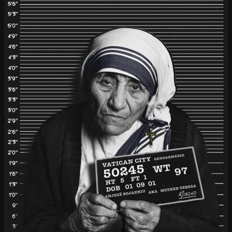 Mother Teresa Mugshot