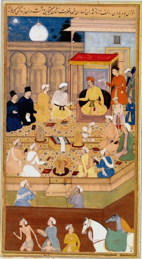 Akbar with Jesuits in the Ibadat Khana