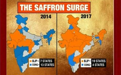 BJP Map 2017