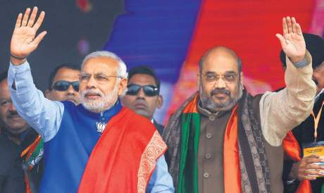 PM Modi and BJP President Shah
