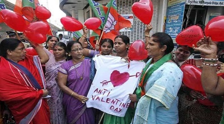 Valentine's Day Protest