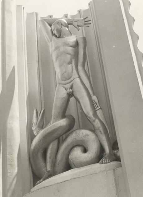 Man Combating Ignorance (Chicago World's Fair 1933)