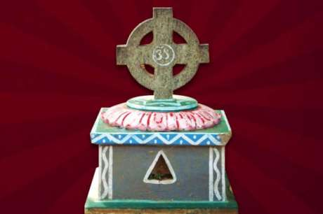 Aum crucified on a Cross
