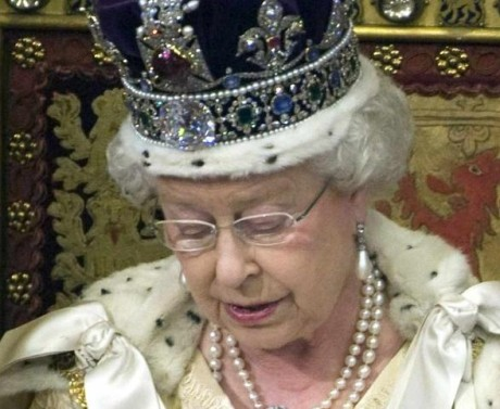 Elizabeth II with Crown