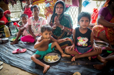 Hindus refugees from Myanmar