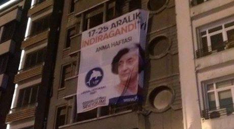 A political poster of Indira Gandhi Memorial Week, to mark anti-corruption week in Turkey.