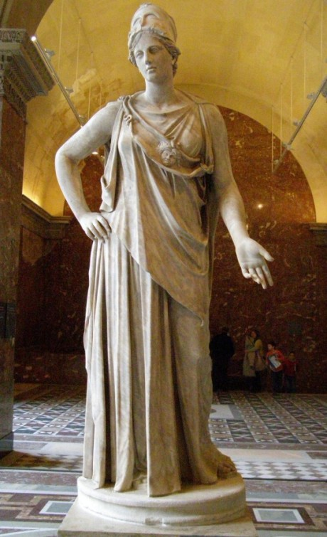 Athena the Goddess of Wisdom : Roman copy from the 1st century BC/AD after a Greek original of the 4th century BC, attributed to Cephisodotos or Euphranor.