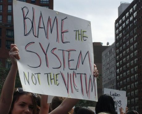 Blame the system protest