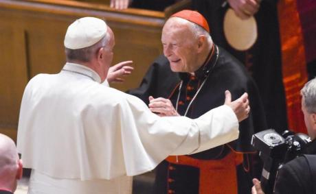 Pope Francis with Cardinal McCarrick