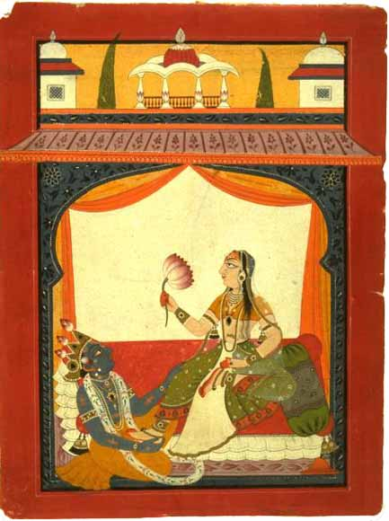 Krishna at Radha's feet