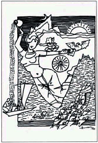 Bharat Mata by M.F. Husain (1997)