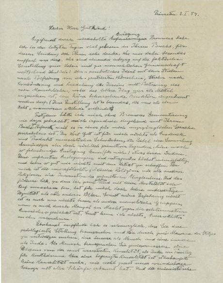 Einstein's God Letter
