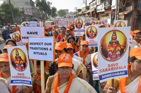 Save Sabarimala Protest in Kerala