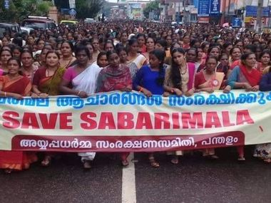 Women protest court ruling in Kerala