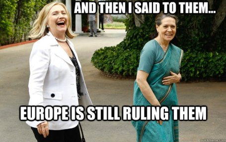 Sonia & Hillary Meme