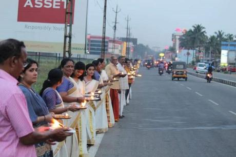 Ayyappa Jyoti Demonstration
