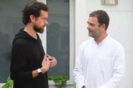 Jack Dorsey & Rahul Gandhi (Nov. 2018)