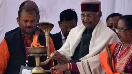 President Ram Nath Kovind at Kumbh Mela 2019