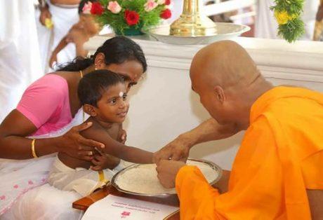 Vidhyarambham ceremony at Santhigiri Ashram