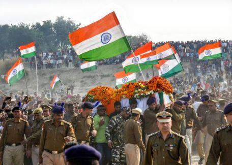 Funeral of CRPF Jawan Ramesh Yadav in Varanasi