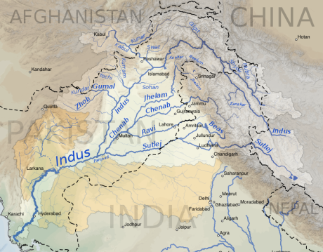 Indus River Basin Map
