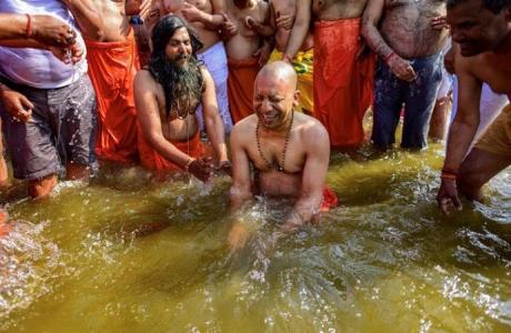 Yogi Adityanath at Kumbh (2019)
