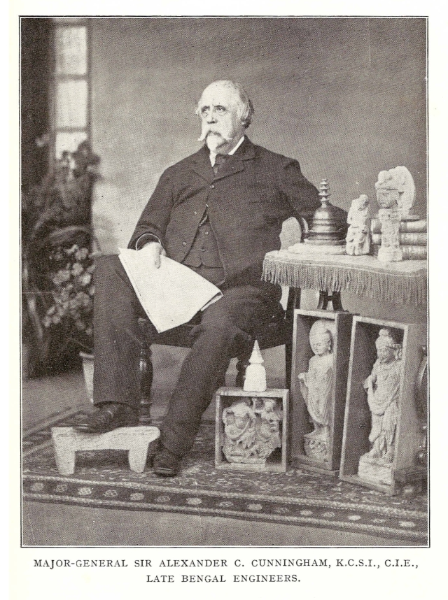 Alexander Cunningham of the Archaeological Survey of India