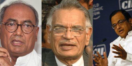 Digvijay Singh, Shivraj Patil & P. Chidambaram